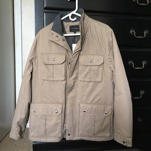 Men's Banana Republic new w/ tags taupe coat
